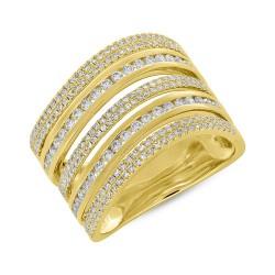 Madison E 0.81ct 14k Yellow Gold Diamond Pave Lady