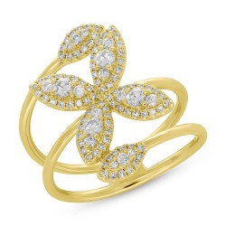 Madison E 0.60ct 14k Yellow Gold Diamond Flower Lady