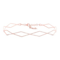 Madison E 0.52ct 14k Rose Gold Diamond Choker Necklace