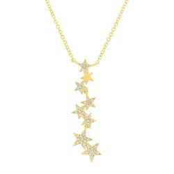 Madison E 0.11ct 14k Yellow Gold Diamond Star Pendant