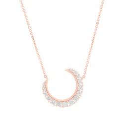 Madison E 0.47ct 14k Rose Gold Diamond Pendant