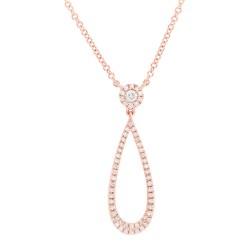 Madison E 0.19ct 14k Rose Gold Diamond Pendant