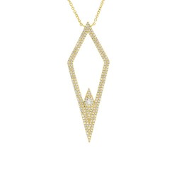 Madison E 0.56ct 14k Yellow Gold Diamond Pendant
