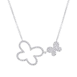 Madison E 0.25ct 14k White Gold Diamond Butterfly Necklace