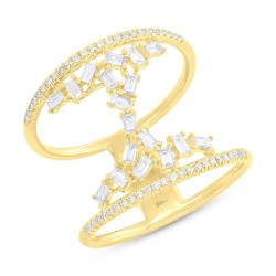 Madison E 0.55ct 14k Yellow Gold Diamond Baguette Lady