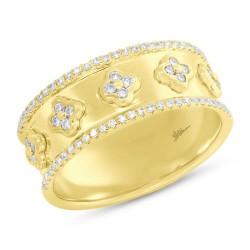 Madison E 0.30ct 14k Yellow Gold Diamond Clover Lady