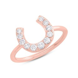 Madison E 0.36ct 14k Rose Gold Diamond Horseshoe Ring