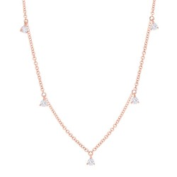 Madison E 0.30ct 14k Rose Gold Diamond Necklace