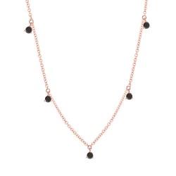 Madison E 0.37ct 14k Rose Gold Black Diamond Necklace