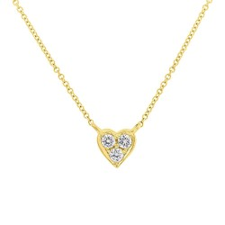 Madison E 0.08ct 14k Yellow Gold Diamond Heart Pendant