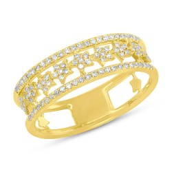 Madison E 0.23ct 14k Yellow Gold Diamond Star Ring