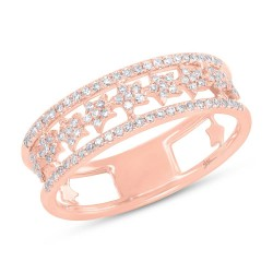 Madison E 0.23ct 14k Rose Gold Diamond Star Ring