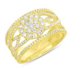 Madison E 0.75ct 14k Yellow Gold Diamond Lady