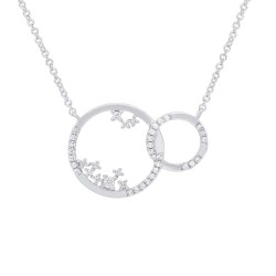 Madison E 0.15ct 14k White Gold Diamond Circle Necklace