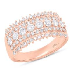 Madison E 1.00ct 14k Rose Gold Diamond Lady