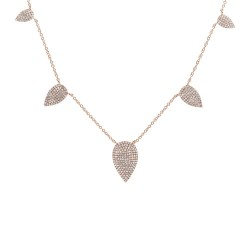 Madison E 0.72ct 14k Rose Gold Diamond Pave Necklace