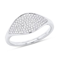 Madison E 0.24ct 14k White Gold Diamond Pave Lady
