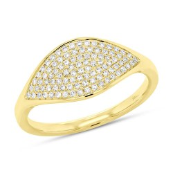 Madison E 0.24ct 14k Yellow Gold Diamond Pave Lady