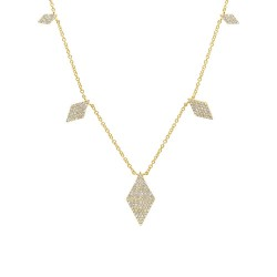 Madison E 0.44ct 14k Yellow Gold Diamond Pave Necklace