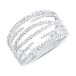 Madison E 0.40ct 14k White Gold Diamond Lady