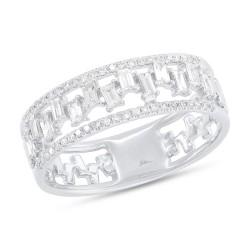 Madison E 0.44ct 14k White Gold Diamond Baguette Lady