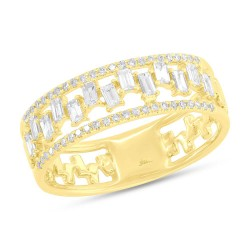 Madison E 0.44ct 14k Yellow Gold Diamond Baguette Lady