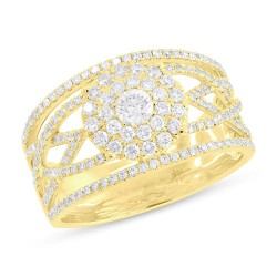 Madison E 0.91ct 14k Yellow Gold Daimond Lady