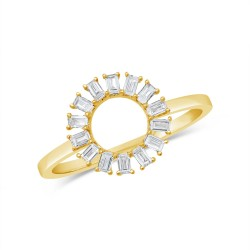 Madison E 0.28ct 14k Yellow Gold Diamond Baguette Ring