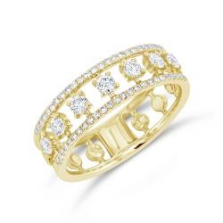 Madison E 0.52ct 14k Yellow Gold Diamond Lady