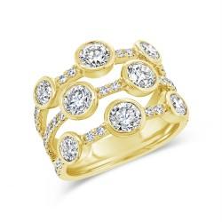 Madison E 2.71ct 14k Yellow Gold Diamond Lady