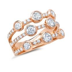Madison E 1.58ct 14k Rose Gold Diamond Lady
