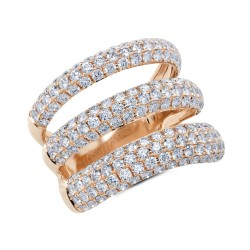 Madison E 2.55ct 14k Rose Gold Diamond Pave Lady