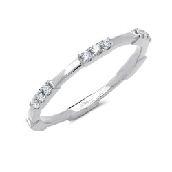 Madison E 0.13ct 14k White Gold Diamond Lady