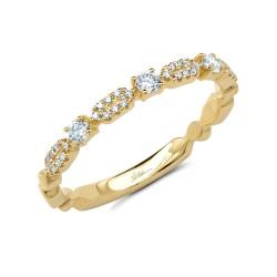 Madison E 0.22ct 14k Yellow Gold Diamond Lady