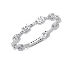 Madison E 0.12ct 14k White Gold Diamond Lady