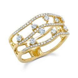 Madison E 0.51ct 14k Yellow Gold Diamond Lady
