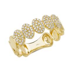 Madison E 0.23ct 14k Yellow Gold Diamond Pave Lady