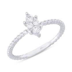 Madison E 0.20ct 14k White Gold Diamond Lady