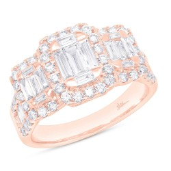 Madison E 1.75ct 14k Rose Gold Diamond Baguette Lady