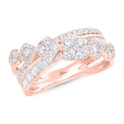 Madison E 1.18ct 14k Rose Gold Diamond Lady