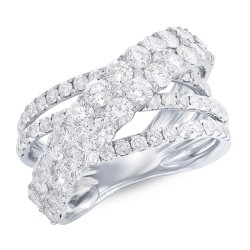 Madison E 3.20ct 18k White Gold Diamond Bridge Ring