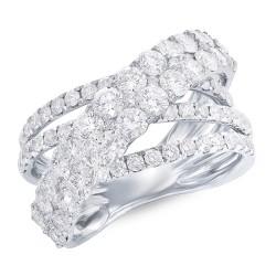 Madison E 3.20ct 18k White Gold Diamond Bridge Ring
