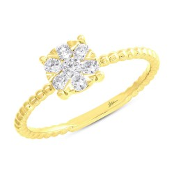 Madison E 0.35ct 14k Yellow Gold Diamond Cluster Ring