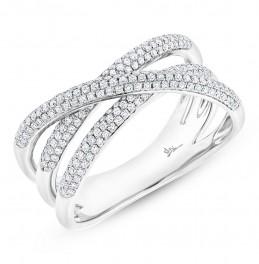 Maddison E 0.50ct 14k White Gold Diamond Bridge Ring