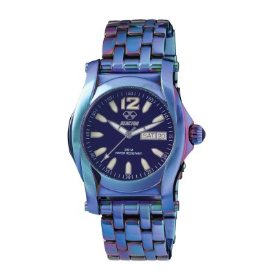 CURIE Ionized Stainless Dial Eggplant Ionized Stainless Bracelet