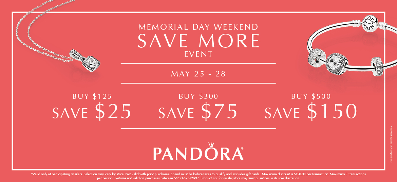 Pandora Buy More Save More!
