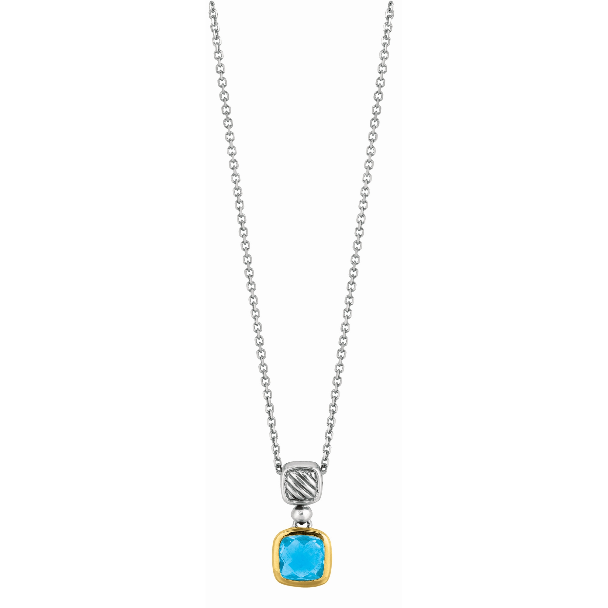 AMAZING Flowering Tube Onyx Stalactite Pendant wFaceted London Blue Topaz in Oxidized Sterling Silver